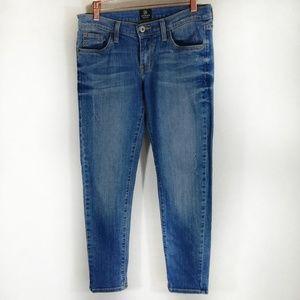 Just Black Distressed Skinny Jeans Size 25